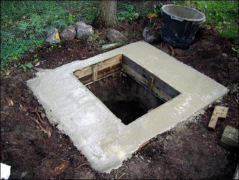 concrete squat pit