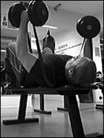 Dumbell bench with bands