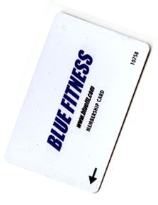 Blue Fitness membership card