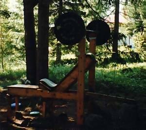 wooden bench press design